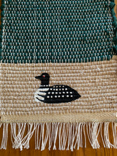 "Load image into Gallery viewer, Loon Handwoven Hand Painted Mini Runner 8""W x 20""L"