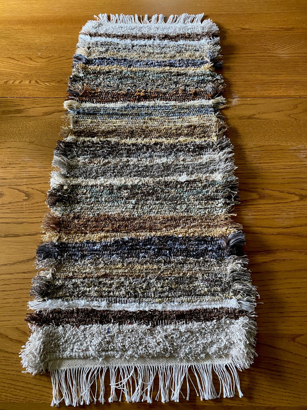 "Handwoven Table Runner Brown Series 13""W x 36""L SALE"