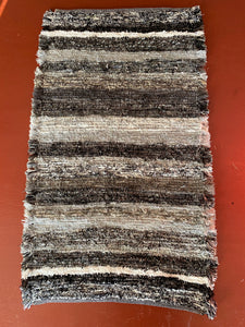 "Black Series Handwoven Rug 20""W x 33""L"