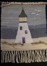 "Load image into Gallery viewer, Lighthouse Tapestry Handwoven 23""W x 30""L"
