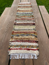 "Load image into Gallery viewer, Handwoven Earth Tone Table Runner 13""w x 62""L"