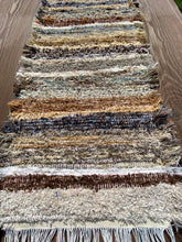 "Load image into Gallery viewer, Handwoven Table Runner Brown Series 13""W x 36""L SALE"