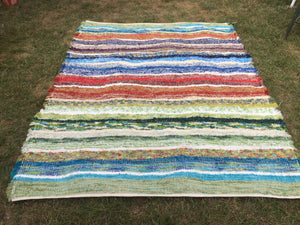 "Handwoven Area Rug Rainbow Series 60""W x  6'2""L (74"")"