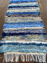"Load image into Gallery viewer, Handwoven Table Runner Blue Series 13""W x 35""L"