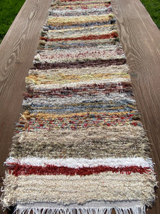 "Handwoven Earth Tone Table Runner 13""W x 50""L"