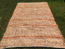 "Load image into Gallery viewer, Handwoven Area Rug Pumpkin Color  60""W x 7'L"