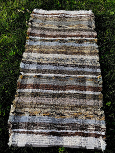 "Handwoven Rug Brown/Grey Series 25""W x 48""L"