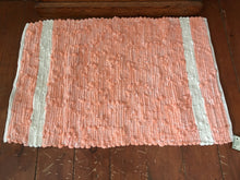 "Load image into Gallery viewer, Handwoven Rug Peach Looper 23""W x 34""L"