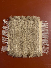 "Load image into Gallery viewer, Handwoven Mini Mat Beige 9""x11"""