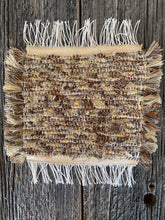 "Load image into Gallery viewer, Handwoven Beige/Brown Mini Mat/Hot Pad 9""W x 11""L"