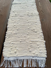 "Load image into Gallery viewer, Handwoven Table Runner Cream Looper  12"" W x 35""L"