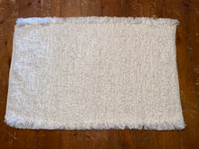 "Load image into Gallery viewer, Handwoven Rug White 26""L x 39""L"