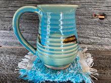 Load image into Gallery viewer, Handwoven Mug Rugs Teal Set-2