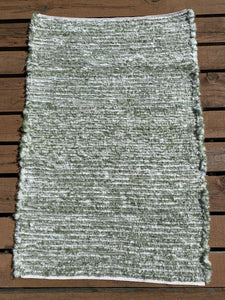 "Handwoven Rug Sage Green Cream 29""W x 44"" L SALE"