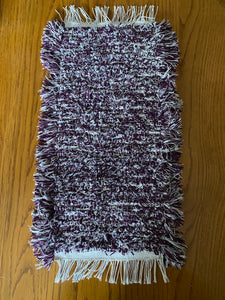 "Handwoven Tank Topper/Cover Purple Variegated 10""W x 20""L"