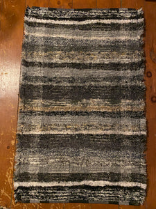 "Black/Grey Series Handwoven Rug 25""W x 39""L"