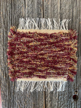 "Load image into Gallery viewer, Handwoven Burgundy Mini Mat 9""W x 11""L"