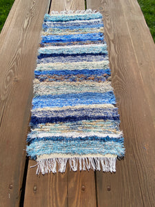 "Handwoven Table Runner Blue Series 13""W x 35""L"