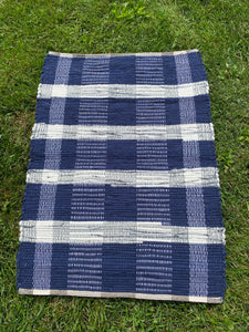 "Handwoven Wool Rug 24""W x 35""L"