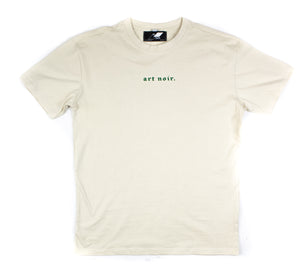 CREAM ''art NOIR WORLD'' OVERSIZED T-SHIRT