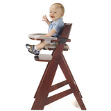 Keekaroo Height Right High Chair with Tray, Mahogany - Baby Strollers Place