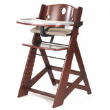 Keekaroo Height Right High Chair with Tray, Mahogany