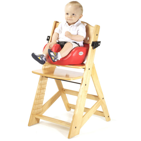 Keekaroo Height Right™ High Chair Natural Color with Infant Insert & Tray (Cherry Color)