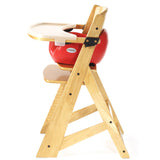 Keekaroo Height Right™ High Chair Natural Color with Infant Insert & Tray (Cherry Color) - Baby Strollers Place