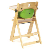 Keekaroo Height Right™ High Chair Natural Color with Infant Insert & Tray (Lime Color) - Baby Strollers Place