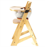 Keekaroo Height Right™ High Chair Natural Color with Infant Insert & Tray (Vanilla Color)