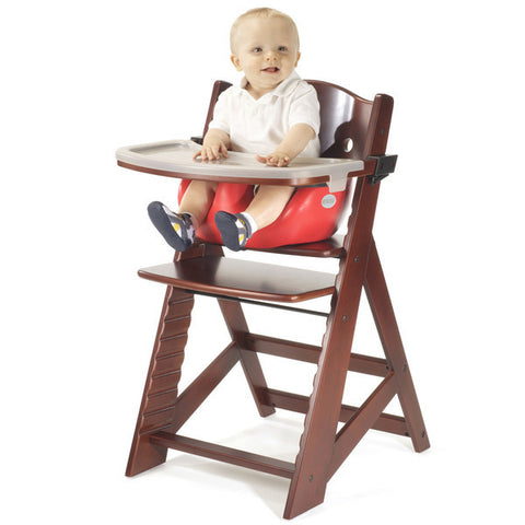 Keekaroo Height Right™ Mahogany High Chair with Infant Insert, Tray and Tray Cover (Cherry Color)