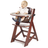 Keekaroo Height Right™ Mahogany High Chair with Infant Insert, Tray and Tray Cover (Chocolate Color) - Baby Strollers Place