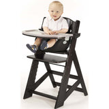 Keekaroo Height Right™ High Chair Espresso Color with Infant Insert & Tray (Black Color) - Baby Strollers Place