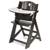 Keekaroo Height Right™ High Chair Espresso Color with Infant Insert & Tray (Black Color)