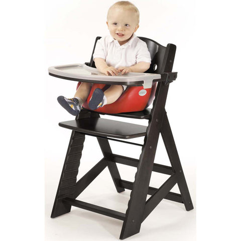 Keekaroo Height Right™ High Chair Espresso Color with Infant Insert & Tray (Cherry Color) - Baby Strollers Place