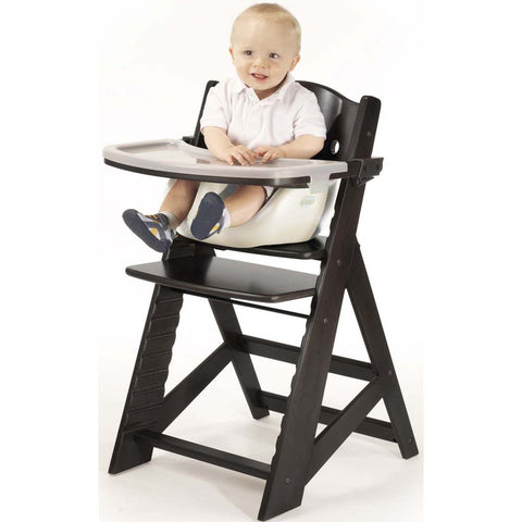 Keekaroo Height Right™ High Chair Espresso Color with Infant Insert & Tray (Vanilla Color) - Baby Strollers Place