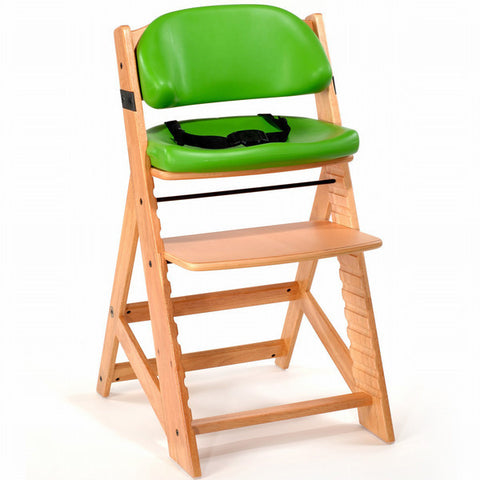 Keekaroo Height Right™ Kids Chair Natural Color with Comfort Cushion Set (Lime Color)