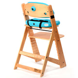 Keekaroo Height Right™ Kids Chair Natural Coor with Comfort Cushion Set (Aqua Color)