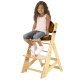 Keekaroo Height Right™ Kids Chair Natural Color with Comfort Cushion Set (Chocolate Color)