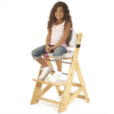 Keekaroo Height Right™ Kids Chair Natural Color with Comfort Cushion Set (Vanilla Color)