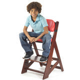 Keekaroo Height Right™ Mahogany Kids Chair with Comfort Cushion Set (Aqua Color) - Baby Strollers Place