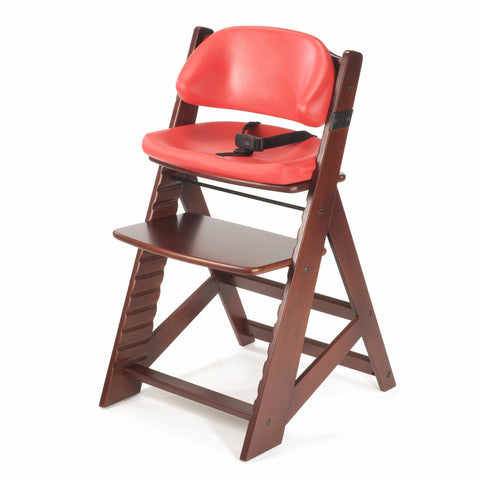 Keekaroo Height Right™ Mahogany Kids Chair with Comfort Cushion Set (Cherry Color)
