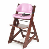 Keekaroo Height Right™ Mahogany Kids Chair with Comfort Cushion Set (Raspberry Color)