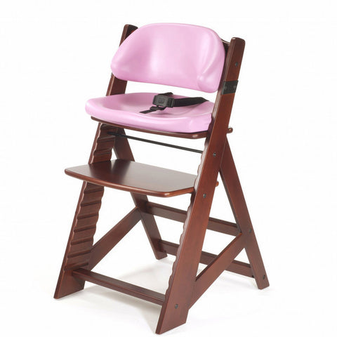 Keekaroo Height Right™ Mahogany Kids Chair with Comfort Cushion Set (Raspberry Color) - Baby Strollers Place