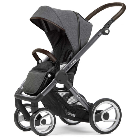 Mutsy Evo Farmer Stroller in Blue Grey Frame, Fishbone Dawn | evobgfafidawn