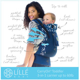 Líllébaby Carryon Airflow Toddler Carrier, Black - Baby Strollers Place