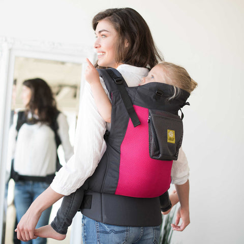 Buy Líllébaby Carryon Airflow Toddler Carrier, Charcoal with Berry