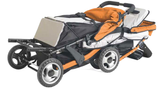 Foundations Trio Sport™ Triple Tandem Stroller, Orange - Baby Strollers Place