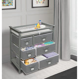 Badger Basket Modern Changing Table with 6 Baskets, Gray 25132