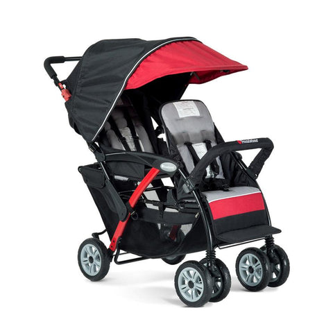 Foundations Duo Sport 2-Passenger Stroller, Red - Baby Strollers Place
